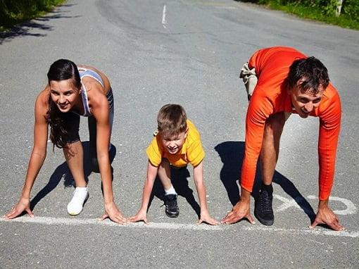 genitori allenano figli